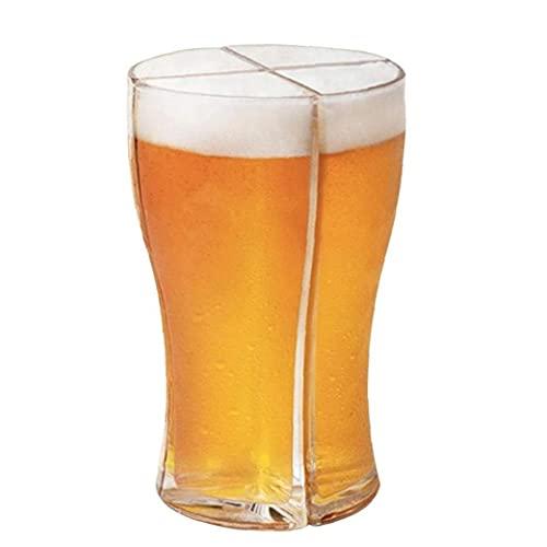 Súper Copas Schooner Tazas de Cerveza Set 4 en 1 apacidad de Bebida Conectado Divertido de los cupés de acrílico para Las Partes KTV Inicio Bares, Regalos del Camarero Kit