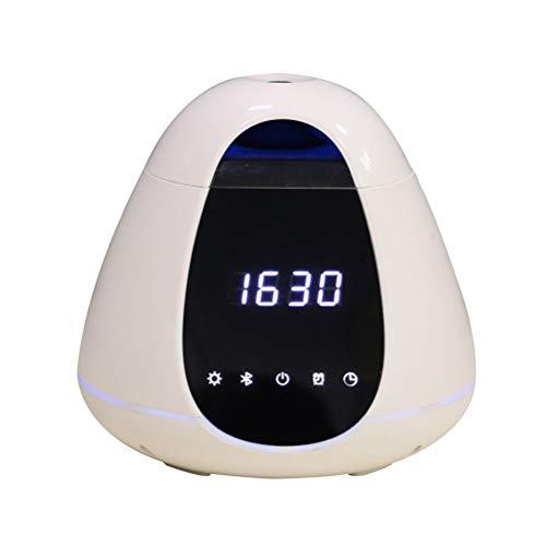 SSBOY USB Bluetooth Audio Luftbefeuchter,Wecker Leise Aroma Diffuser 300ml Ultraschall Aroma Öle Diffusor und Intelligente Nachtlicht/für Zuhause, Yoga, Büro, SPA, Babyzimmer usw