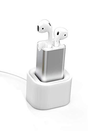 Cargador de Soporte de Auriculares para Airpods, Vou Tiger Base de Carga de Silicona Suave para Auriculares Inalambricos [Carga USB]