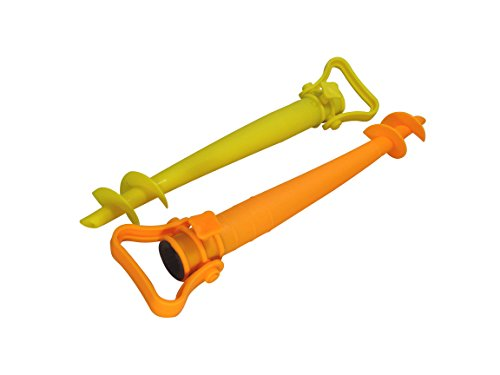 Cao Lot de 2 Pieds de Parasol Orange/Jaune 43 cm
