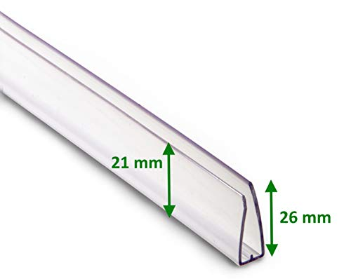 MacGreen® U-Abschlussprofil 6 mm breit/61,0 cm lang zum Abschluss von Stegplatten mit Tropfkante (25 Stück)