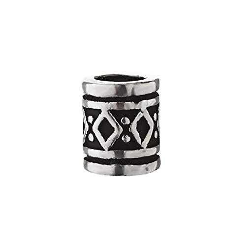NKlaus hair jewellery beard bead curly bead FYRKAR viking style 925 sterling silver 6474