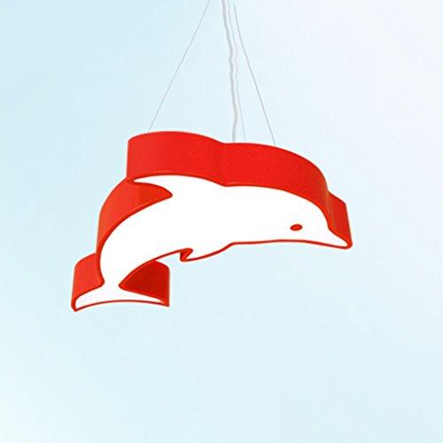 Luminaires suspendus Créatif Cartoon Dolphin enfants lustre LED chambre maternelle parc d'attractions piscine lustre (Couleur : A)