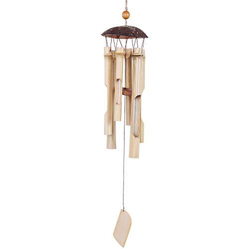 Robasiom Bambus-Windspiel, Windspiel für Haus und Garten (drinnen und draußen), Dekoration, 64 cm langes Holz-Windspiel mit natürlichem Klang
