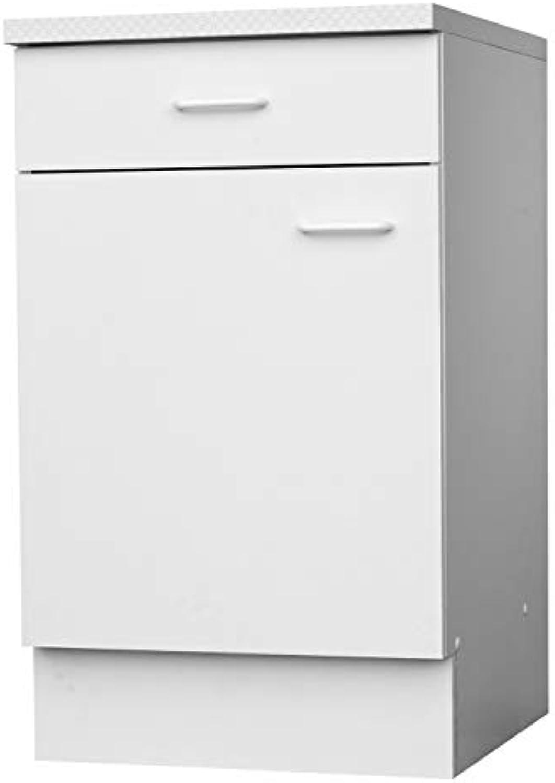 Unterschrank Küchenschrank  Wei  1 Schublade  1 Tür