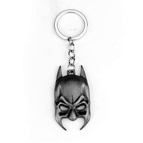 YCEOT Cartoon Sleutelhanger 2 Kleur Metalen Sleutelhanger Sleutelhanger Batman Masker ZILVER