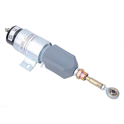 Surebuy Accesorios de Excavadora solenoide de Apagado de Combustible de 12 V para Control de Interruptor de válvula solenoide para Kit de reemplazo de solenoide de Parada de Apagado