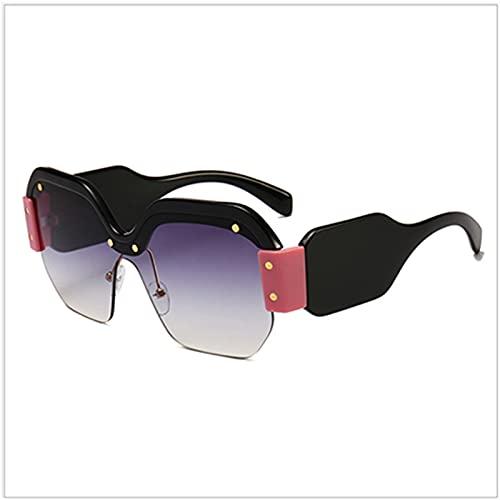 HSCDQ Gafas de Sol Punk de Gran tamaño Mujeres Big Frame Square Sun Glasses Moda Eyewear de Modelado único exc.tq (Lenses Color : Rd327 2)
