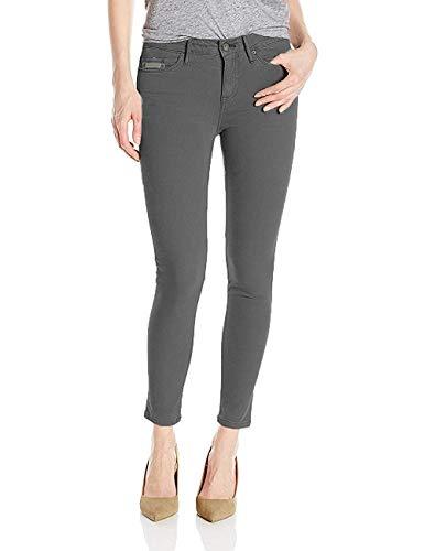 Calvin Klein Women's Ankle Skinny Jeans, Gray Pinstripe, Size 12