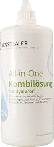Lensdealer Kontaktlinsen Pflegemittel mit Hyaluron All-in-One Kombilösung 1x 360ml Kontaktlinsenflüssigkeit (1)