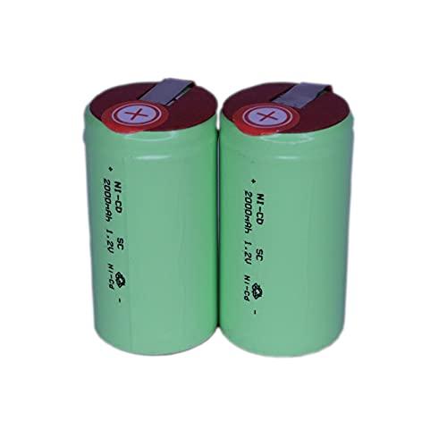 正規容量 国内から発送 22.5x43mm NI-CD Sub-C SC ニカド ニッカド ミニ単2 サブC セル エアガン 電動ガン ドライバー ドリル 工具 掃除機 充電池 バッテリー (2)