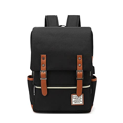 ZLIANGQ Personality Vintage Male Outdoor Canvas Pack, Large Travel Backpack, Fashion Shoulder Bag