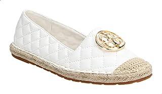 Dejavu Braided Raffia Sole Embossed Faux Leather Espadrille Shoes For Women