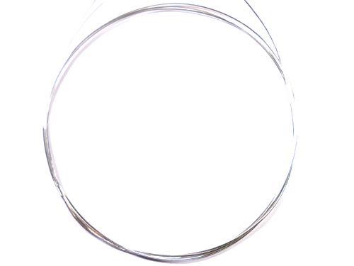 Alambre de plata de ley 925 de 1,2 mm, redondos macizos, 50 cm. Larga ~ media dura.