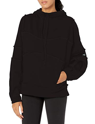 Alo Yoga Women's Dimension Hoodie Jacket, Black, X-Small US