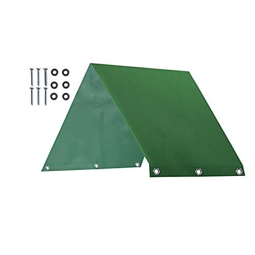 Kristy Swing Set di Ricambio Tarp Bambini Parco Giochi Tetto Baldacchino Per Giardino Esterno Cortile, 1X228X109cm, 600D Panno Oxford, Color Block Stripes/verde