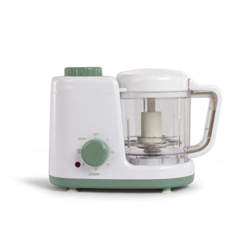 Stoomkoker, babyvoeding, mixer, kooktoestel voor babyvoeding, keukenapparaat, opwarmen, ontdooien, timer)