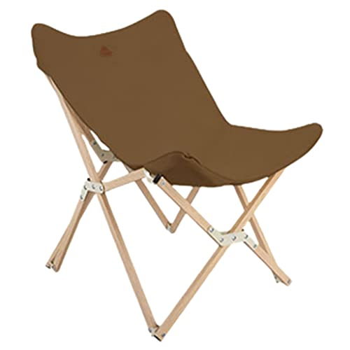 Silla Plegable Camping Aluminio Silla Plegable De Algodón para Viajar, Silla De Camping De Aluminio para Descansar, Puede Soportar hasta 220 Libras (Color : Brown, Size : 92 * 18 * 18cm)