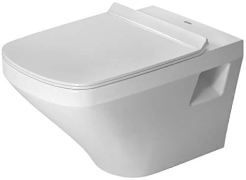 Duravit DuraStyle Wand-WC Rimless ohne Spülrand, Tiefspüler (ohne Deckel) weiß mit Wondergliss 2538090000, 25380900001