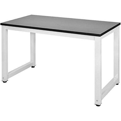 Merax Schreibtisch Computertisch PC Tisch Bürotisch Officetisch Stabile für Zuhause Büro Schlafzimmer Rleichterte Montage,120 x 60 x 75cm (Schwarz)