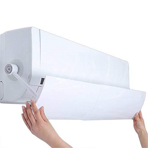 Beito 1 Paquete Cubierta De Aire Acondicionado para El Hogar Deflector De Aire Acondicionado Ajustable Parabrisas La GuíA De Viento RetráCtil Evita El Soplado Directo (Blanco, 56 Cm-102 Cm)