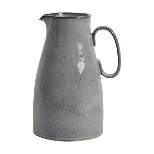 ProCook Malmo Krug - Steinzeug - Dunkelgrau - handgearbeitetes Design - Steingut - Servier-Kanne - 28 cm - Wasserkrug