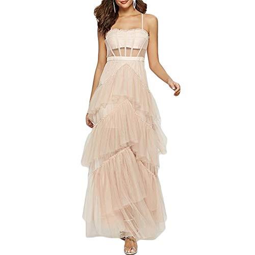 Bademode Damen kleiden Bauchgurt Kleid Urlaub am Meer Strandrock Kleid Bikinis (Color : Apricot, Size : M)