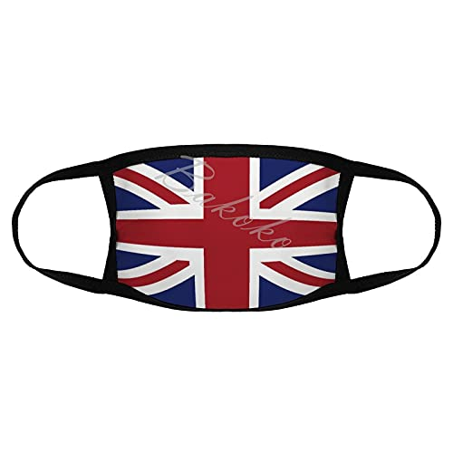 Printed Face Màsc, UK United Kingdom British Flag Unisex Washable Dustproof Mouth Protection, Reusable Windproof Face Protection for Run Outdoor Activities