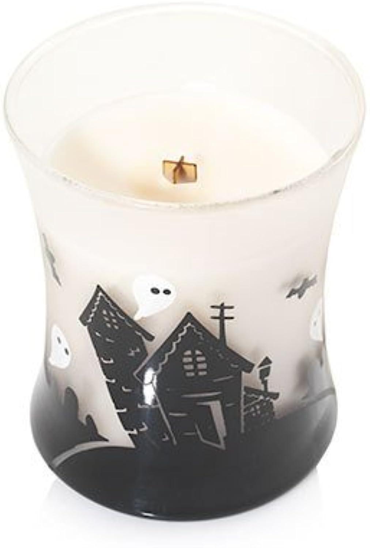 Woodwick Spukhaus Vanilleschote Dekorative Sanduhrformige Duftkerze im im im Glasgefäß mit Halloweenmotiv 275 g Glas Weiß Milchglas-schwarz 9.7 x 9.8 x 11.4 cm B0755MKVPB 1b72eb