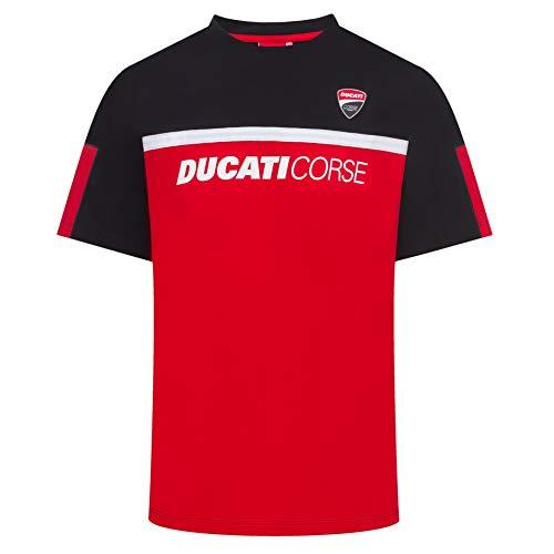 Whybee 2019 Ducati Corse Racing MotoGP Herren T-Shirt, offizielles Logo, Schwarz/Rot, rot, Mens (XL) 112cm/44 inch Chest