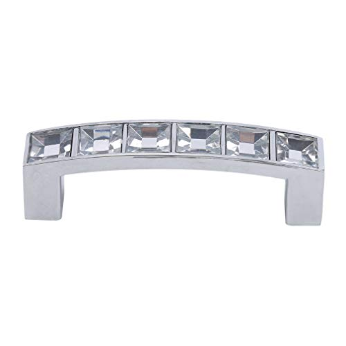 Biluer 3PCS de perillas de Acero Inoxidable Manillar de Puerta Tirador para Puerta de Muebles Manija de Puerta de la aleaci/¨/®n de Aluminio para Puertas de Ducha mampara 30mm
