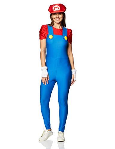 JADEO Déguisement Mario Deluxe Femme - Medium