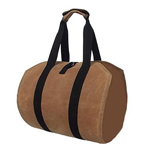 WZQZ Brennholz-Trägerbeutel, Duty-Brennholz-Träger, Holztagenträger, mit Griffen, zum Tragen von Holz zu Hause oder zu Camping, 3 Stück