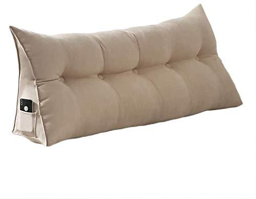 LWZY dreieckiges großes Keilkissen Kissen Dreieck Kopfteil für Bett Lesekissen Rückenlehne Bett Kissen großes Kissen rückenlehne Sofa