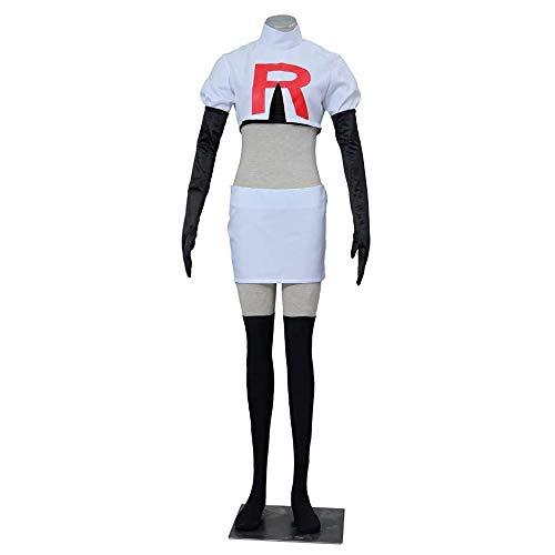 Petainer Disfraz de Cosplay de Team Rocket Jessie para mujer (XL)