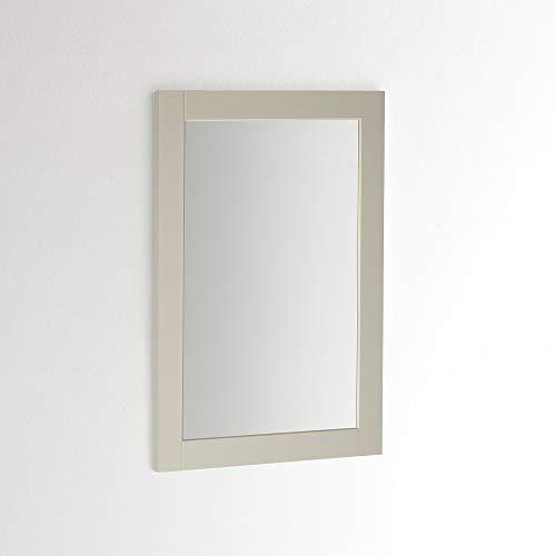 ARHome Wandspiegel 90 x 60 cm, taupe, wandspiegel, gemaakt in Italië.