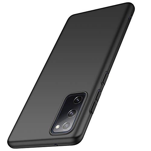 anccer Cover Samsung Galaxy S20 Fe [Alta qualità] [Ultra Slim] Anti-Scratch Hard PC Case Custodia per Samsung Galaxy S20 Fe (Liscio Nero)