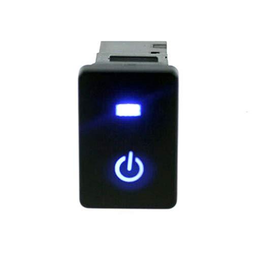 JOMOSIN QICHE25 luces de alimentación botón interruptor para Toyota Camry Prius Corolla con luz LED azul botón interruptor 12 V coche interior acoutrement automotriz