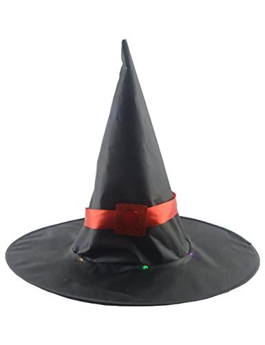 Sombrero de bruja de Halloween clsico mago sombrero puntiagudo para las mujeres carnaval Navidad Cosplay fiesta accesorios decoraciones-negro_talla nica