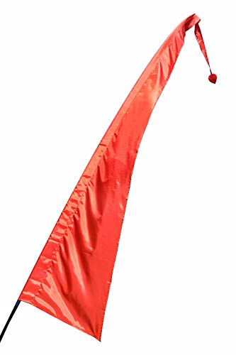 Pink Pineapple Festival Fahnen Stoff: Fahnenstoff aus bunter Fallschirmseide zirka 5 Meter hoch - Fahnenmasten für Rundbogenfahne Nicht enthalten - Garten Fahnen in vielen Farben erhältlich - Orange