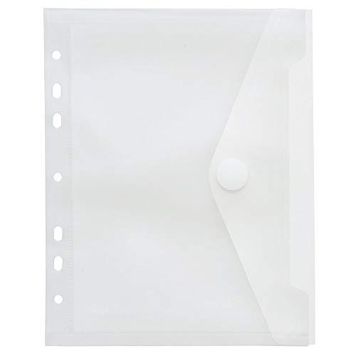 Sichttasche A5, Klettverschluss, Abheftrand, PP farblos transparent, 10 Stück
