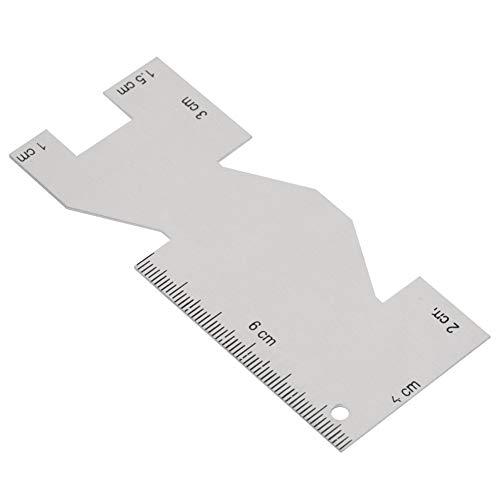 金属縫製ゲージ 定規測定ゲージ キルティング定規 ミシン 刺繍 縫製ツール アクセサリー 縫製Diyクラフト プロフェッショナル 手芸 加工 多機能 アクセサリー