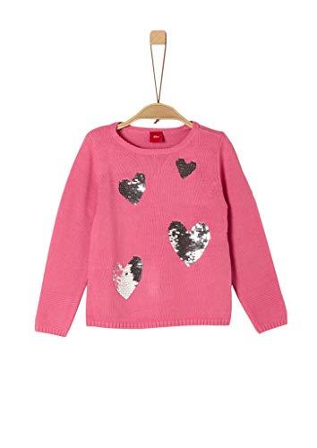 s.Oliver Mädchen 53.909.61.2271 Pullover, Rosa (Pink 4543), 128 (Herstellergröße: 128/134/REG)