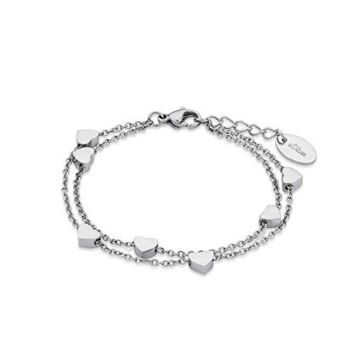s.Oliver Armkette für Mädchen, Edelstahl, Herz