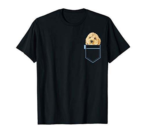 Poochon in pocket Puppy Dog Lover Cute Poodle cross gift T-Shirt