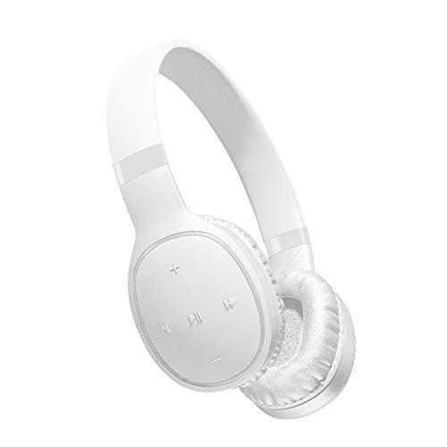 cellularline AQL Kosmos Cuffie Bluetooth, Headband con Bassi Potenti, Senza Distorsioni, Remote Control, Microfono Clear Voice, Fast Recharge, Ultra Leggere e Padiglioni Confortevoli, Bianco