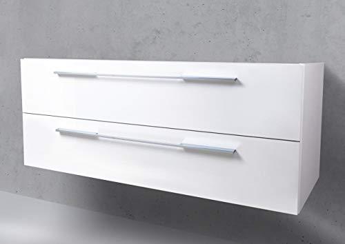 Intarbad ~ Waschtisch Unterschrank zu Duravit Starck 3 Doppelwaschtisch 130 cm Grau Matt Lack