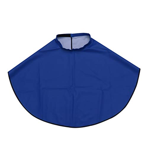 Beaupretty capa de corte de pelo vestido de peluquería salón de peluquería impermeable capa de tinte para el cabello con cinta mágica (azul)