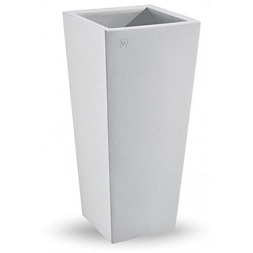 VECA-Genesis Cachepot Carré Haut Blanc 45 x 100 h