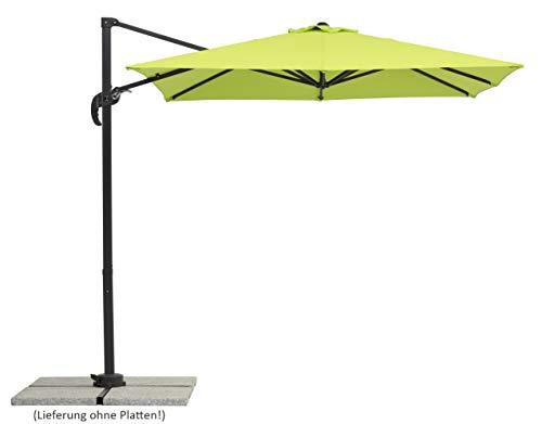Schneider-Schirme Rhodos Junior, apfelgrün, ca. 230 x 230 cm, 8-teilig, quadratisch Sonnenschirm